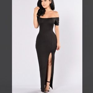 Fashion Nova black maxi dress